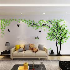 Amazon Com Diy 3d Giant Couple Tree Wall Decals Wall Stickers Crystal Acrylic Wall Decor Arts M Silver Acrylic Wall Decor Diy Wall Decals Tree Wall Murals
