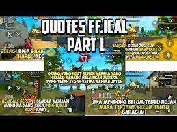 quotes ff ical terbaik quotes gameplay diakhir video