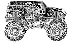 Grave Digger Coloring Pages Monster Trucks Kleurplaten Free
