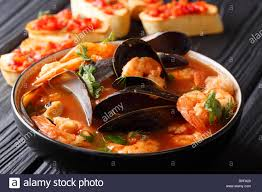 French seafood bouillabaisse soup ...