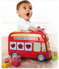 elc shape sorter bus pink oder rot