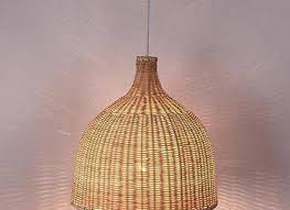 52 pendant lamp wicker lampshade