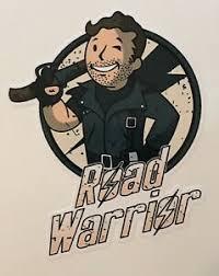 Road Warrior 4 X 3 Die Cut Vinyl Decal Sticker Fallout Mad Max Vault Boy Gamer Ebay