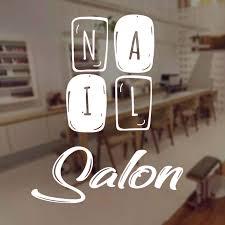 Nail Salon Sign Window Decal Vinyl Art Manicure Beauty Salon Shop Wall Sticker Interior Decoration Mural Removable Mural A503 Wall Stickers Aliexpress