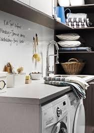 Laundry With Dry Erase Backsplash Made Of Magnetic Whiteboard Laminate From Formicagroup Magnetic White Board White Board Kitchen Inspirations