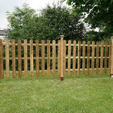 Mercia 4ft High 1220mm Mercia Palisade Round Top Fence Panels Pressure Treated Fencing Elbec Garden Buildings