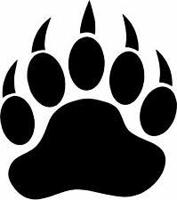 Bear Paw Print Decal For Sale In Stock Ebay