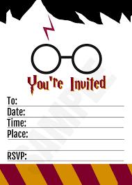 Harry Potter Inspired Printable Birthday Invitation Blank 5x7