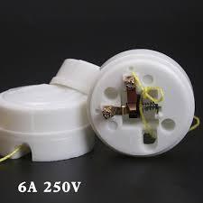 2pcs 6a light pull cord switch bathroom