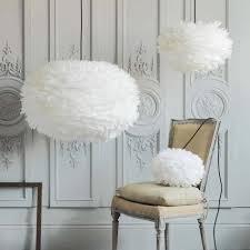 Aurora White Feather Pendant Shades | Graham & Green