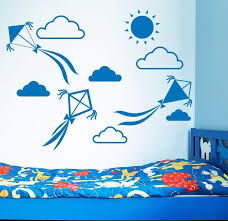 Kite Cloud Wall Decal In 2020 Wall Stickers Kids Cloud Wall Decal Vinyl Wall Stickers