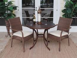 dining table patio set for 2 wicker