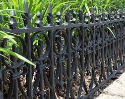 Old World Cast Iron Final Style Border Fence Wrought Iron Etsy In 2020 Metal Garden Edging Lawn Edging Victorian Gardens