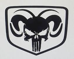 Dodge Ram Punisher Decals The Punisher Car Stickers Decals Mopar Hellcat Dodge Gifts For Guys Gifts F Truck Stickers Dodge Truck Tattoo