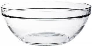 salad bowl in tempered glass