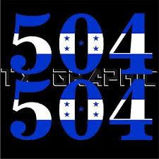 Honduras Flag Color Area Code 504 Two Tone Decal Vinyl Sticker 1 Set Of 2 Ebay