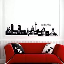 D0051 Liverpool Skyline Wall Sticker City Outline Sihouette Decal Art Vinyl Stickers Skyline Wall Stickers Wall Stickervinyl Stickers Aliexpress