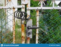 Old Fence Closed Smart Combination Lock Stock Image Image Of Exit Flexible 178319123