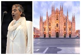 Andrea Bocelli Easter live stream in Milan's Duomo