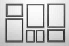 set of many various shapes black frames