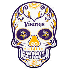Applied Icon Nfl Minnesota Vikings Outdoor Skull Graphic Small Nfos1901 The Home Depot