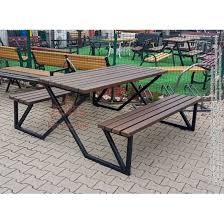 metal garden bench and table stuttgart