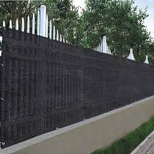 Yescom 25x4 Privacy Fence Screen Fabric Mesh 180gsm Virgin Hdpe Netting Windscreen For Outdoor 4 Ft Fencing Black Walmart Canada