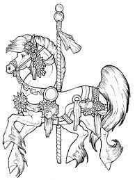 Free Coloring Pages Carousel Horse Kleurplaten Draaimolen Kleuren