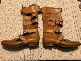 leather tan pirate boots size u k