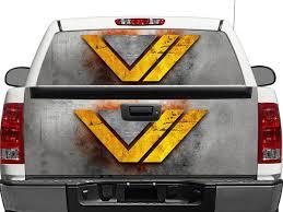Product Wonder Women Ww Dc Comics Metal Texture Rear Window Or Tailgate Decal Sticker Pick Up Truck Suv Car
