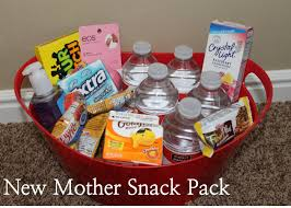 diy baby shower gift new mother snack pack