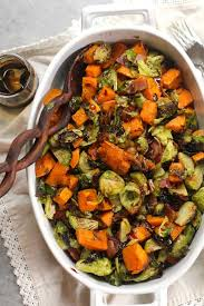 balsamic glazed brussels sprouts and