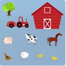 Childrens Farm Animals Nursery Bedroom Vinyl Wall Stickers Decals Art Decor Tree Ebay