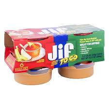 jif to go peanut er creamy 6 pk