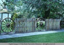Slab And Wagon Wheel Fence Fife Slide Collection Of Western U S Vernacular Architecture Usu Digital Collections