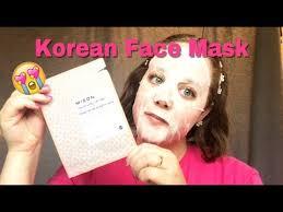 korean skincare mizon firming face mask