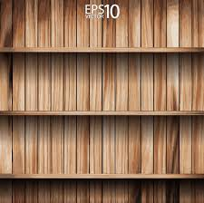 wooden bookshelf background vector