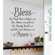 Gracie Oaks Bless The Food Before Us Wall Decal Reviews Wayfair