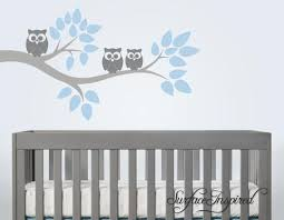 Nursery Wall Decals Cute Owl Branch Vinyl Wall Decal Surface Inspired Home Decor Wall Decals Wall Art Wooden Letters