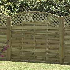 Arched Lattice Trellis Fence Panel Pressure Treated Free Delivery Available