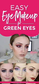 easy eye makeup for green eyes makeup