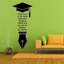 nelson mandala education motivation quotes vinyl wall stickers