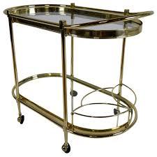 regency style oval tea cart