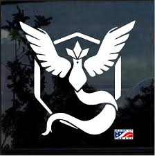 Pokemon Go Team Mystic Symbol Window Decal Sticker Custom Sticker Shop