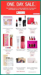 60 beauty deals incl macys 1 day