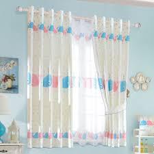 Cute Baby Blue Polka Dots Fish Bedroom Kids Curtains