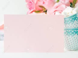 Tarjeta De Papel Rosa En Blanco Para San Valentin O Madre Dia De
