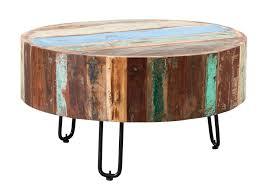 indian hub coastal reclaimed wood drum
