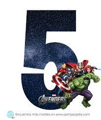 Numeros Avengers Para Descargar Gratis Party Pop