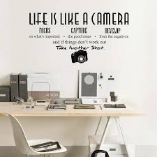 Life Is Like A Camera Wall Decal Inspirational Wall Quote Decal Life Is Like A Camera Wall Sticker For Bedroom Living Room 8120q Wall Stickers Aliexpress